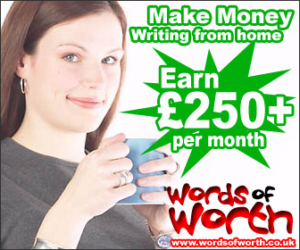 Earn money writing from home with Words of Worth